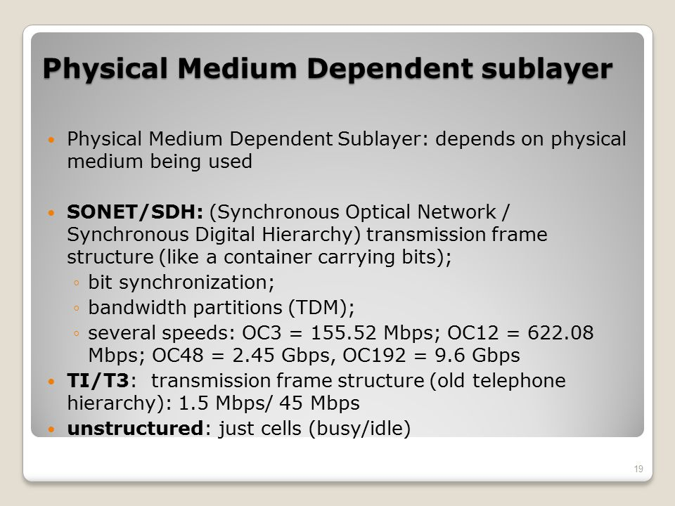 Physical Medium Dependent sublayer