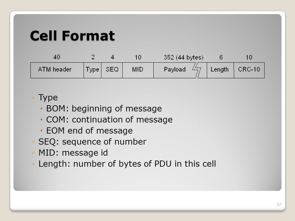 Cell Format Type BOM: beginning of message