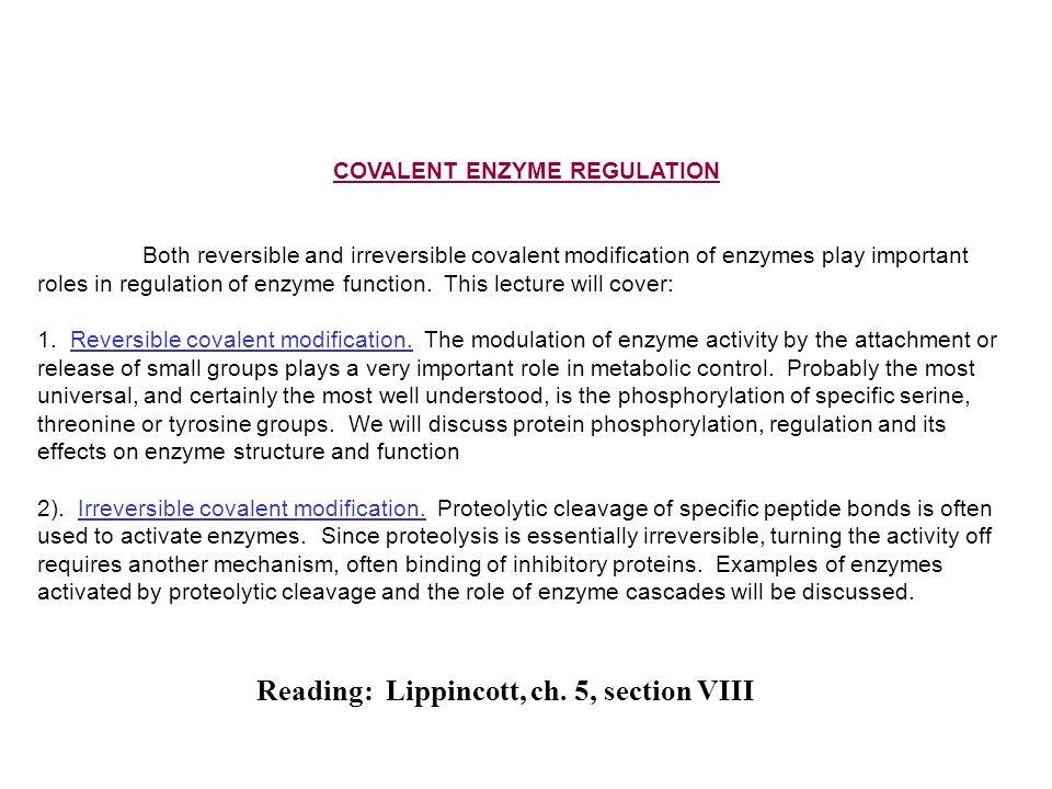 COVALENT ENZYME REGULATION