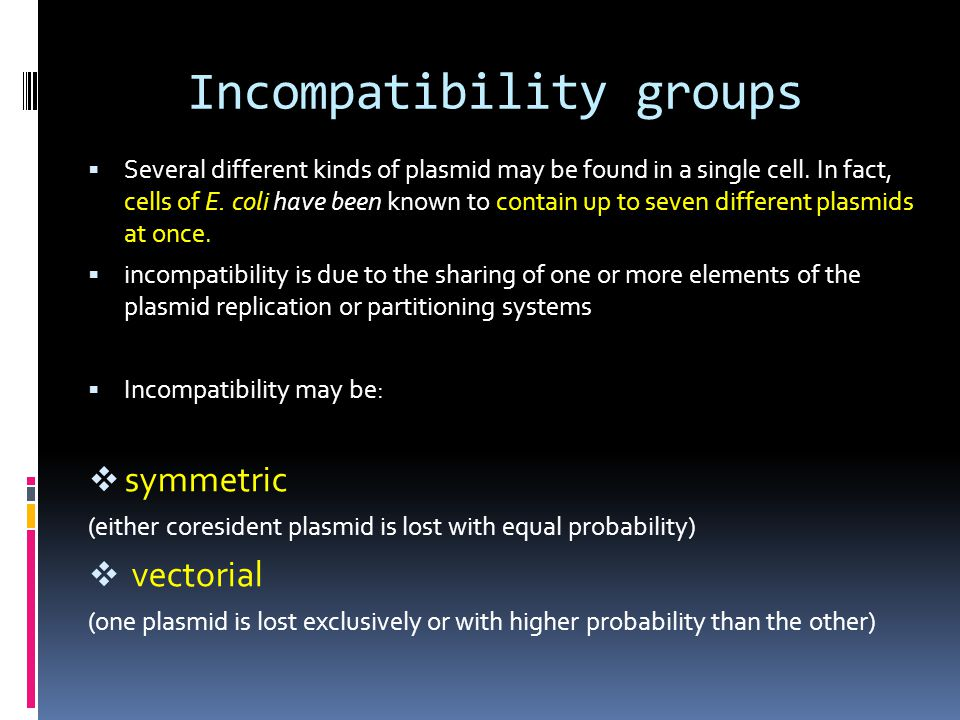 Incompatibility groups