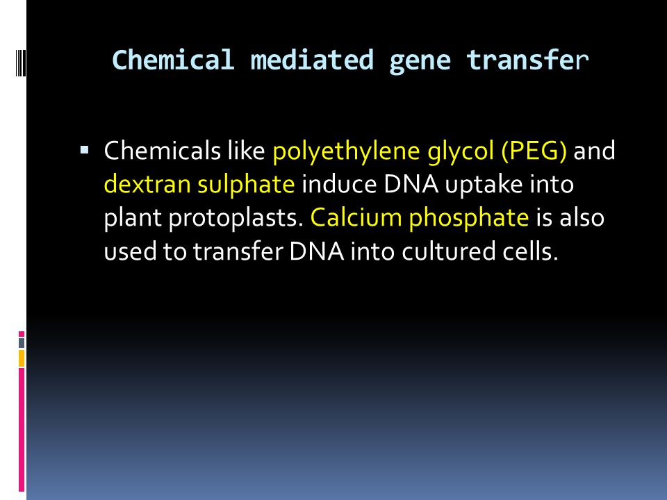 Chemical mediated gene transfer