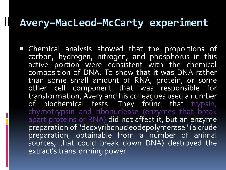 Avery–MacLeod–McCarty experiment