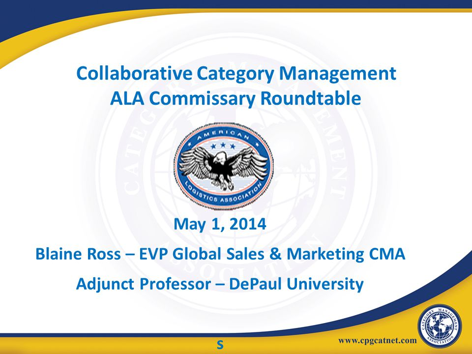 Collaborative Category Management ALA Commissary Roundtable