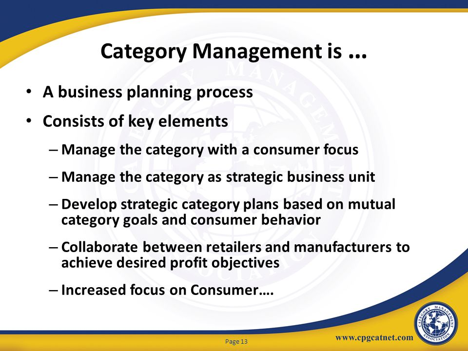 Category Management is …
