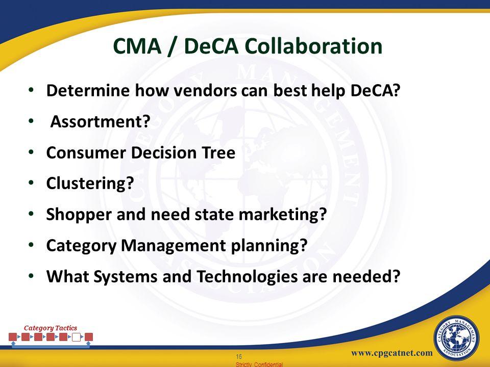 CMA / DeCA Collaboration