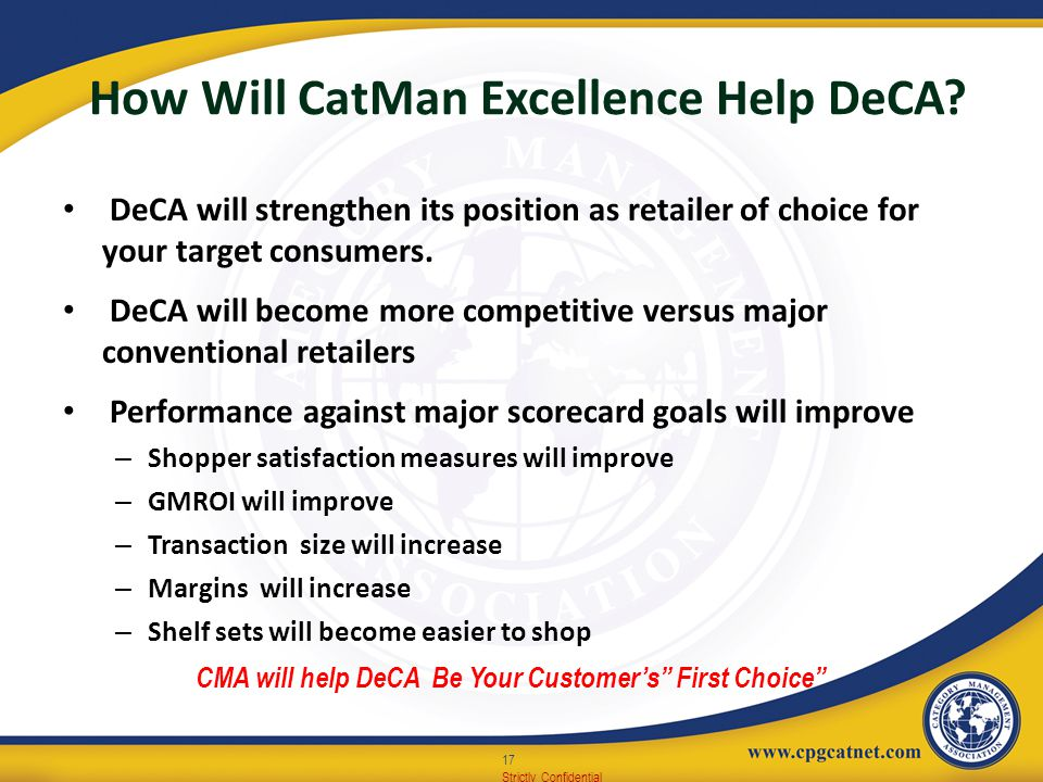 How Will CatMan Excellence Help DeCA