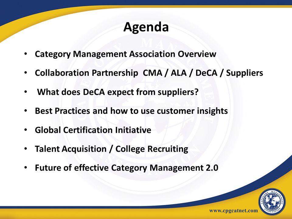 Agenda Category Management Association Overview