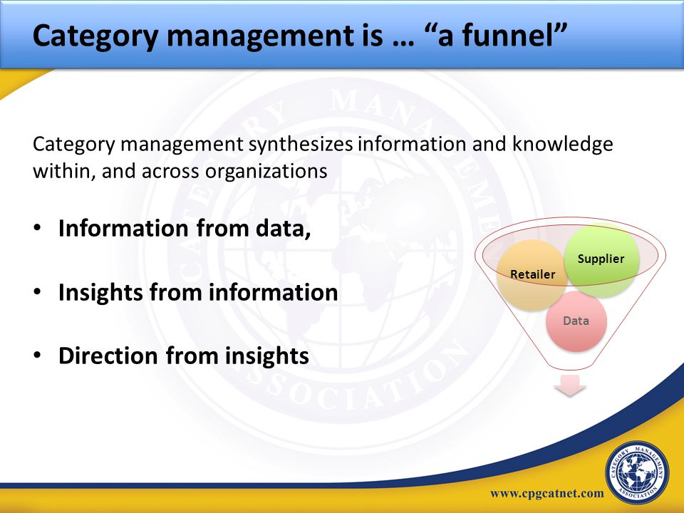 Category management is … a funnel