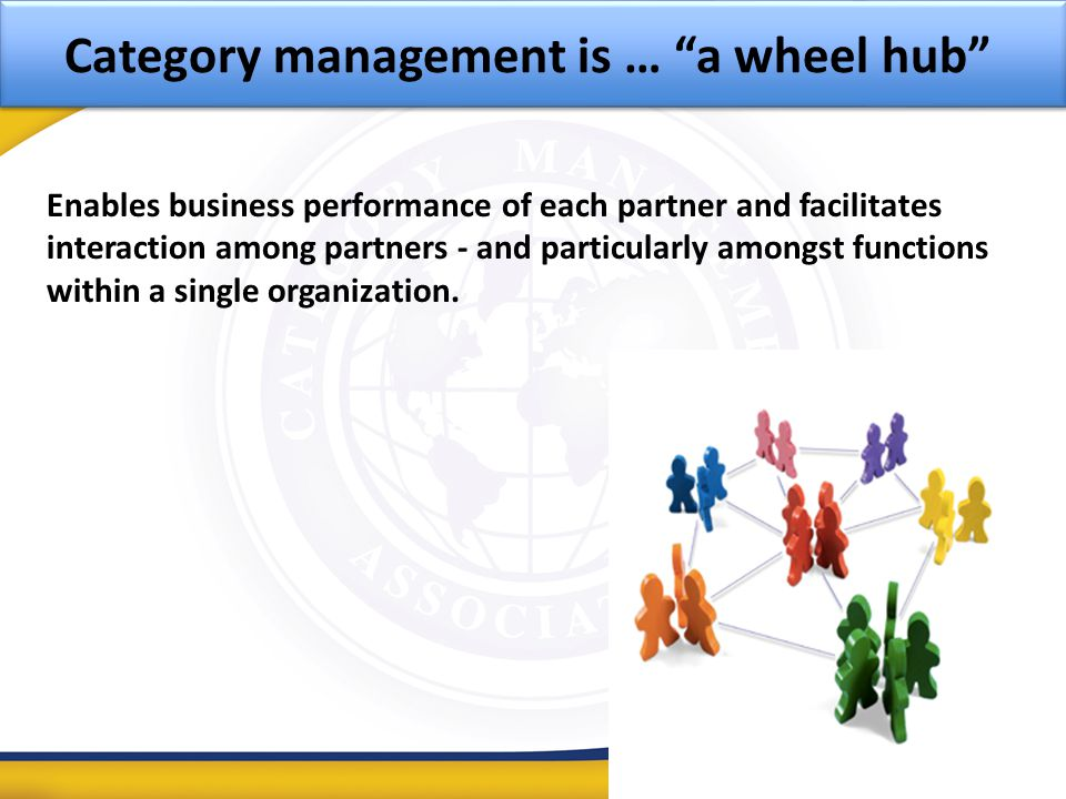 Category management is … a wheel hub