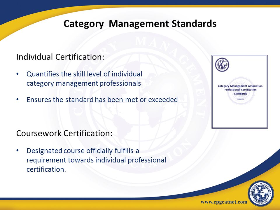 Category Management Standards