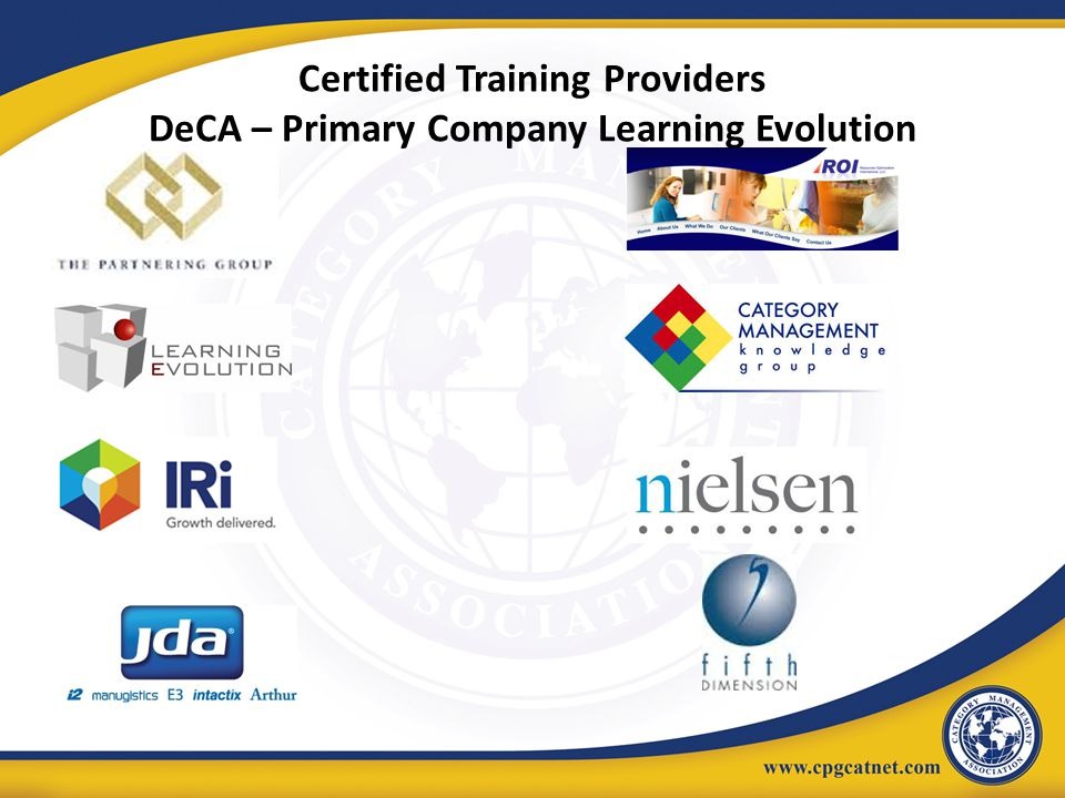 Certified Training Providers DeCA – Primary Company Learning Evolution