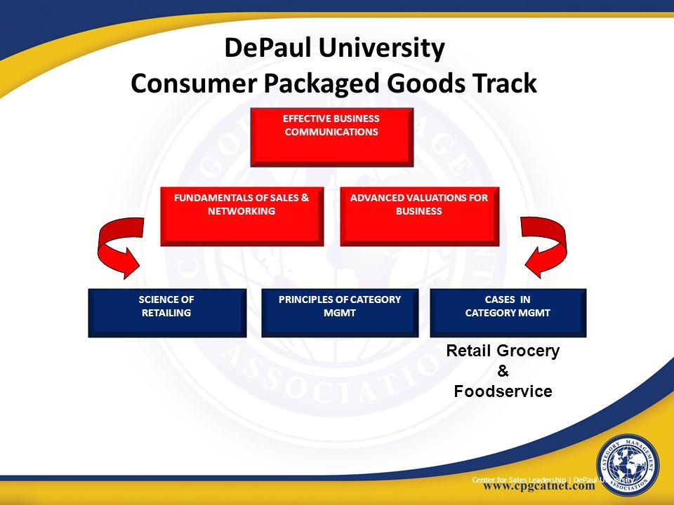 DePaul University Consumer Packaged Goods Track