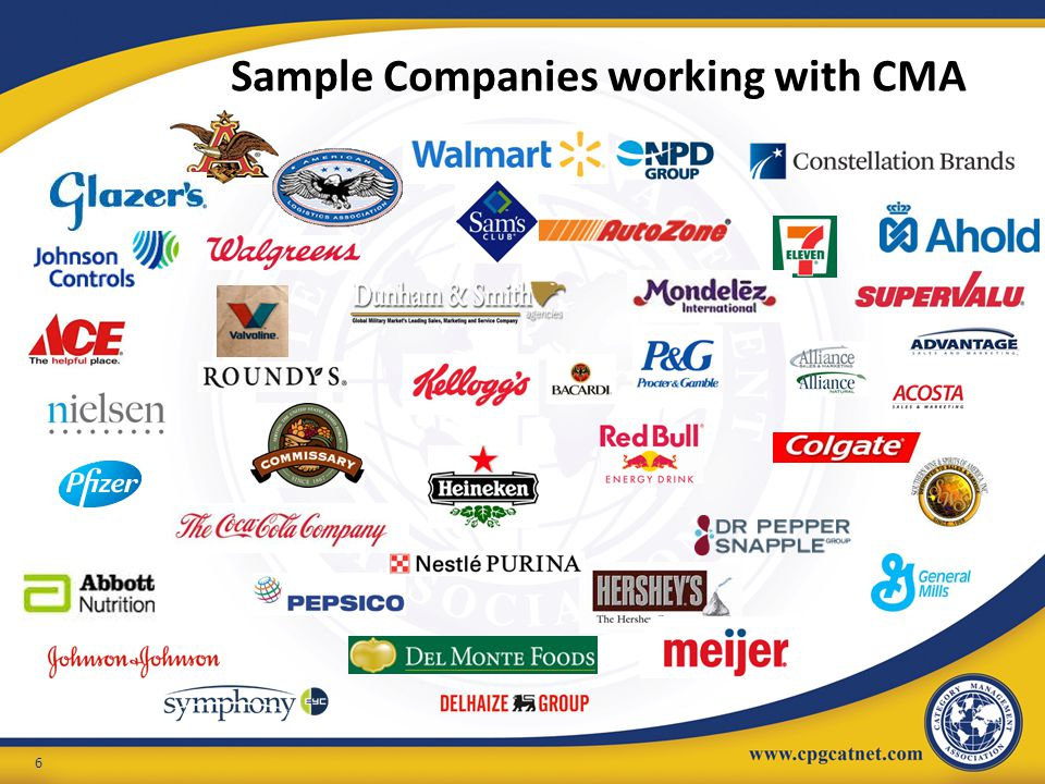 Sample Companies working with CMA
