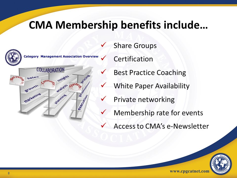 CMA Membership benefits include…