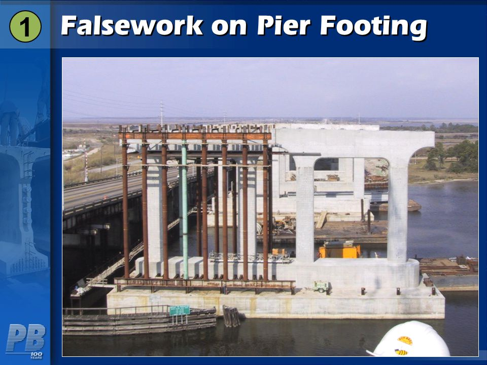 Falsework on Pier Footing