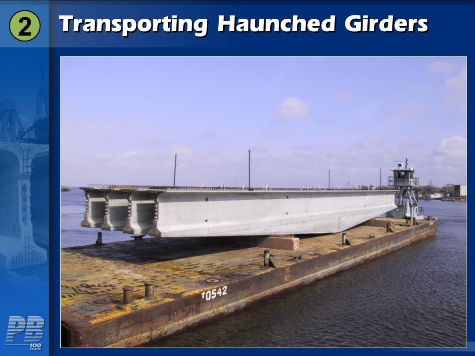 Transporting Haunched Girders