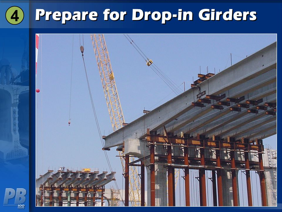Prepare for Drop-in Girders