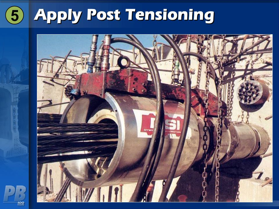 5 Apply Post Tensioning