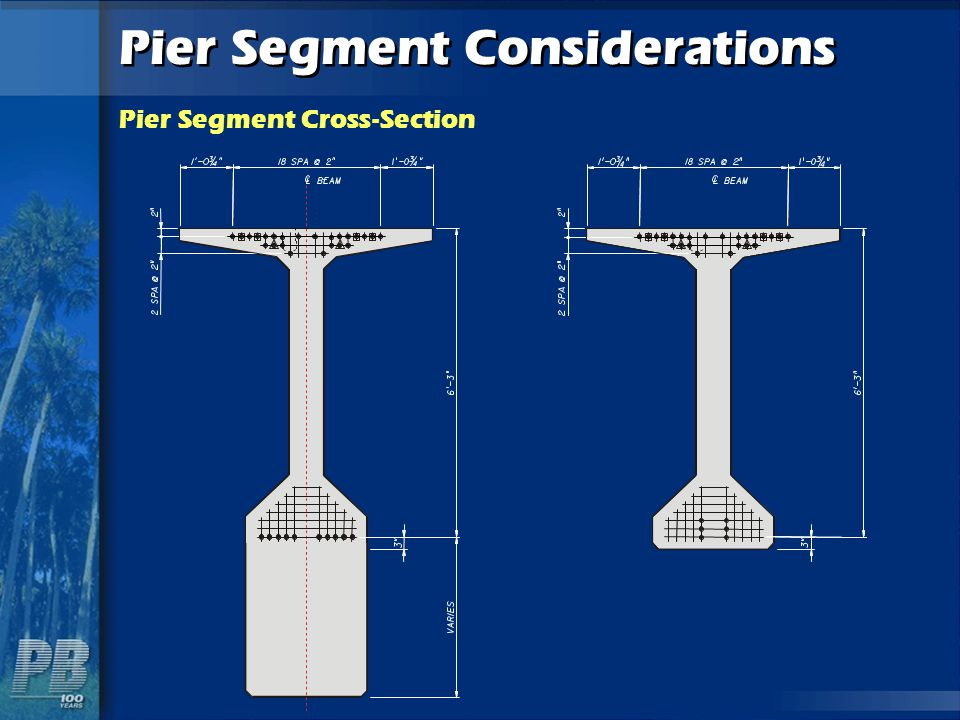 Pier Segment Considerations