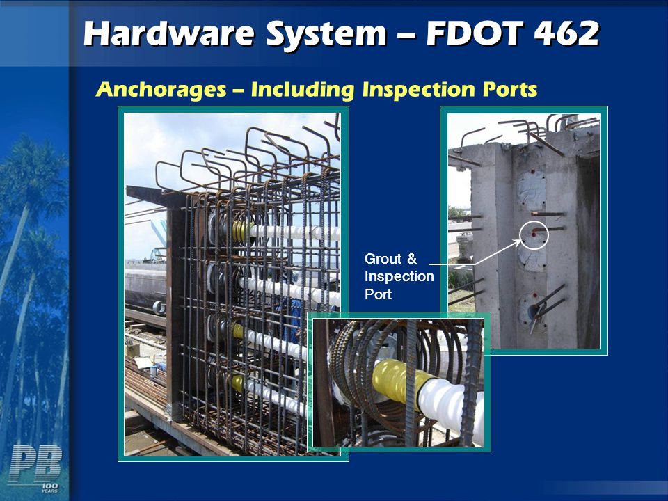 Anchorages – Including Inspection Ports