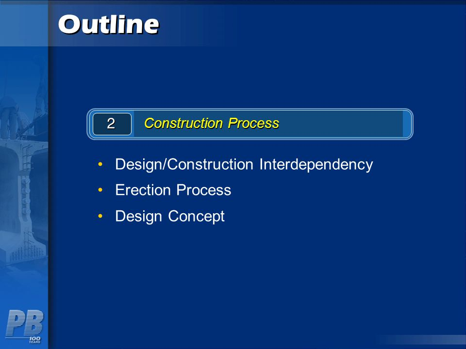 Outline Design/Construction Interdependency Erection Process