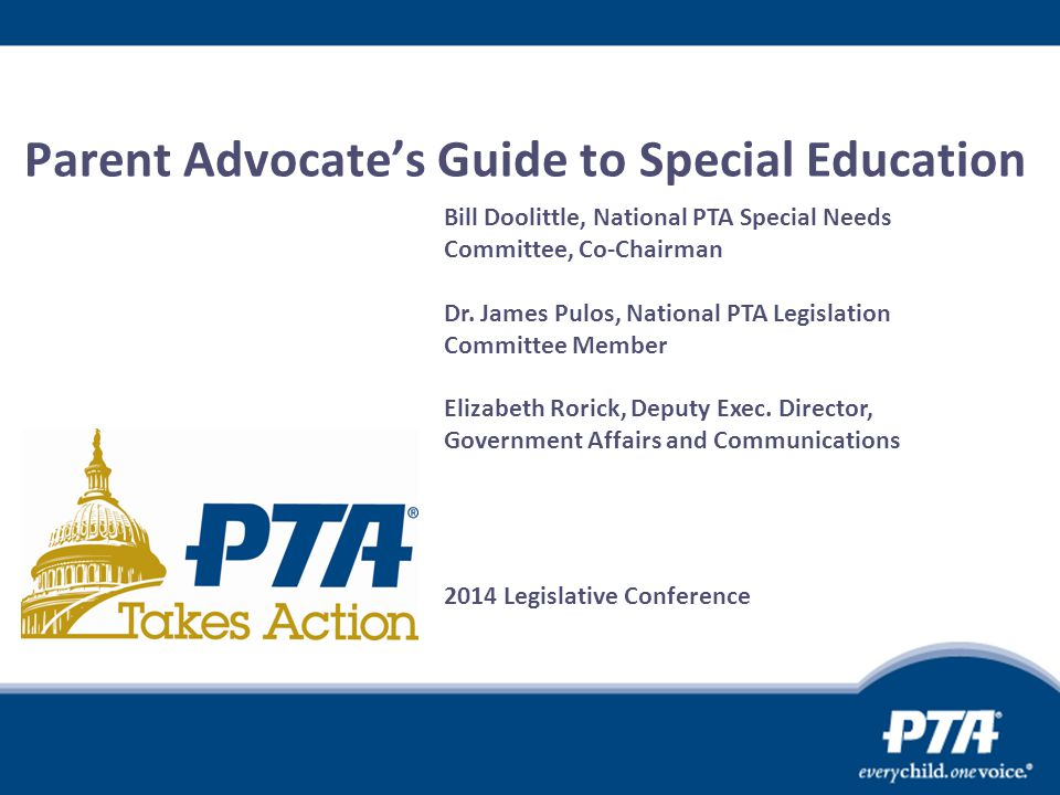 Parent Advocate's Guide to Special Education