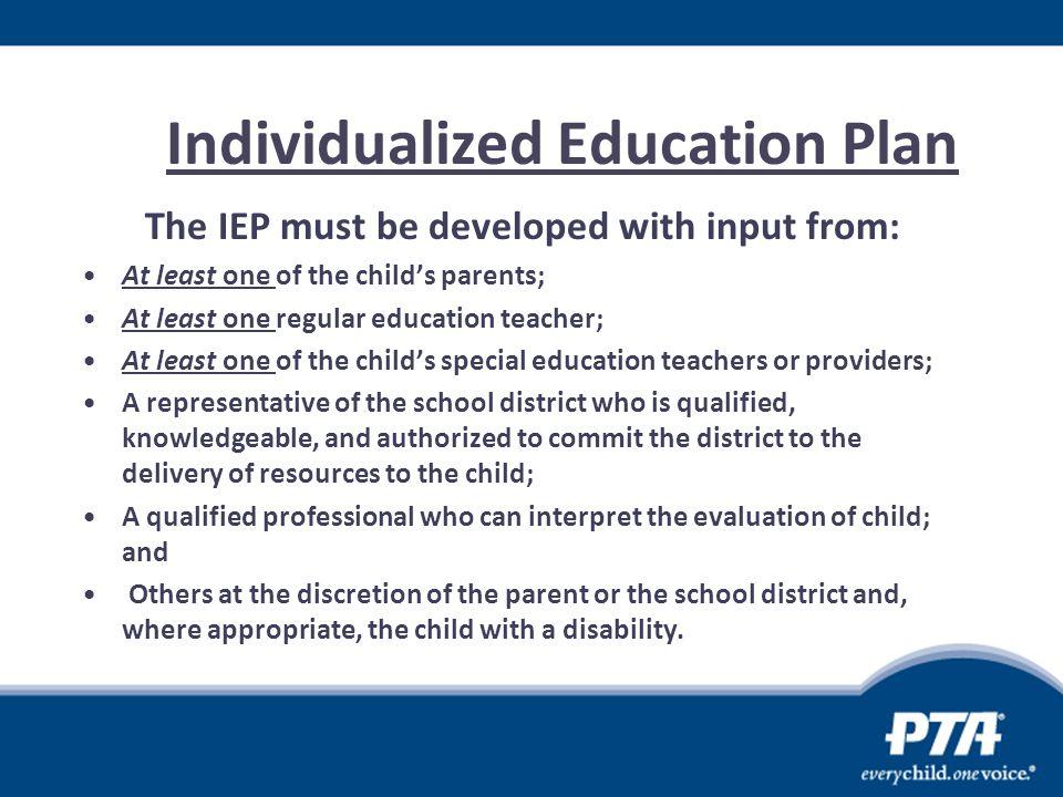 Individualized Education Plan