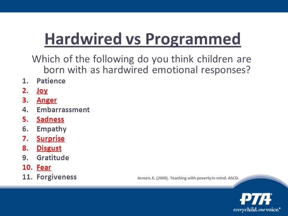 Hardwired vs Programmed