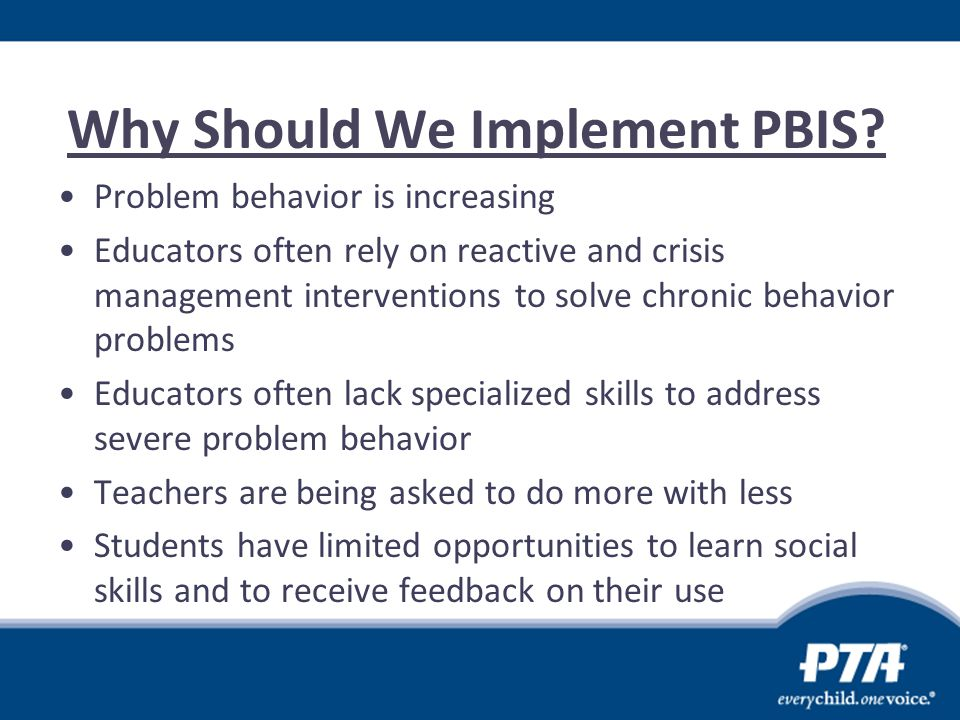 Why Should We Implement PBIS