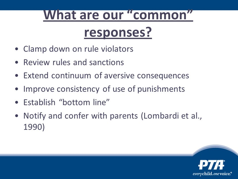What are our common responses