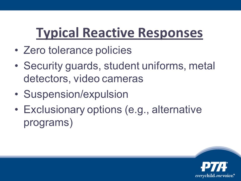 Typical Reactive Responses