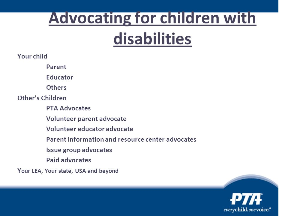 Advocating for children with disabilities