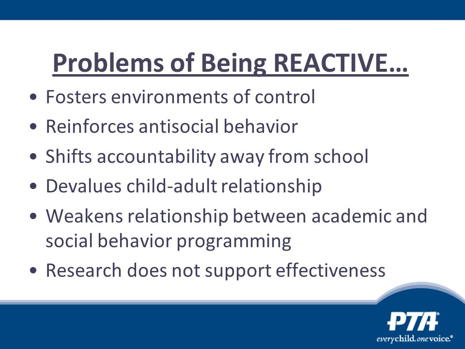 Problems of Being REACTIVE…