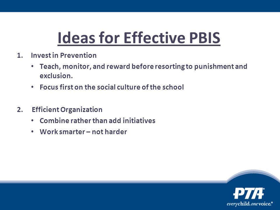 Ideas for Effective PBIS