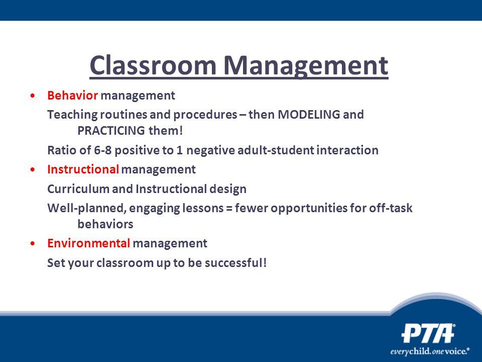 Classroom Management Behavior management