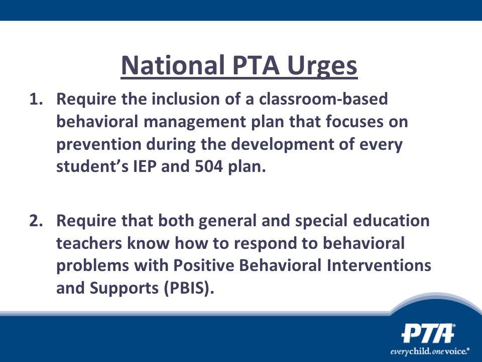 National PTA Urges