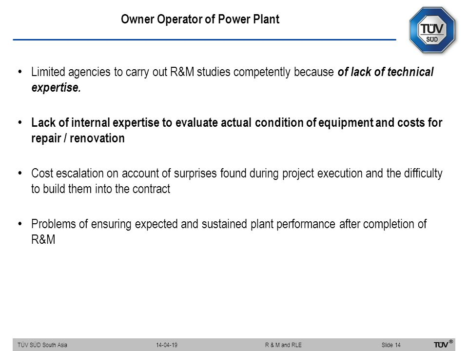 Owner Operator of Power Plant