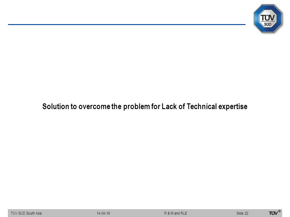 Solution to overcome the problem for Lack of Technical expertise