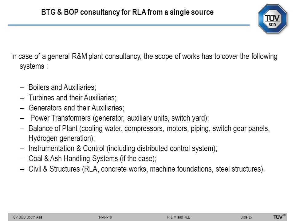 BTG & BOP consultancy for RLA from a single source