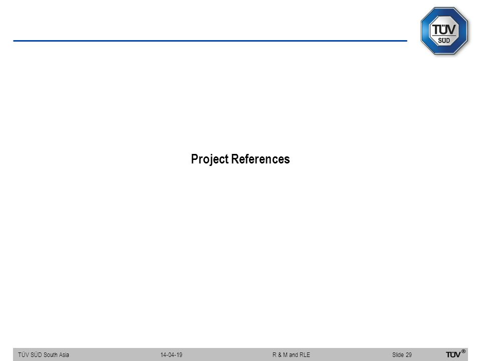 Project References 14-04-19 R & M and RLE
