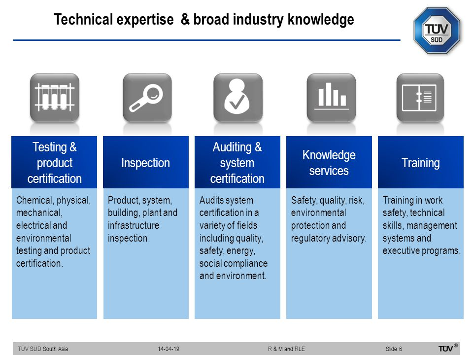 Technical expertise & broad industry knowledge