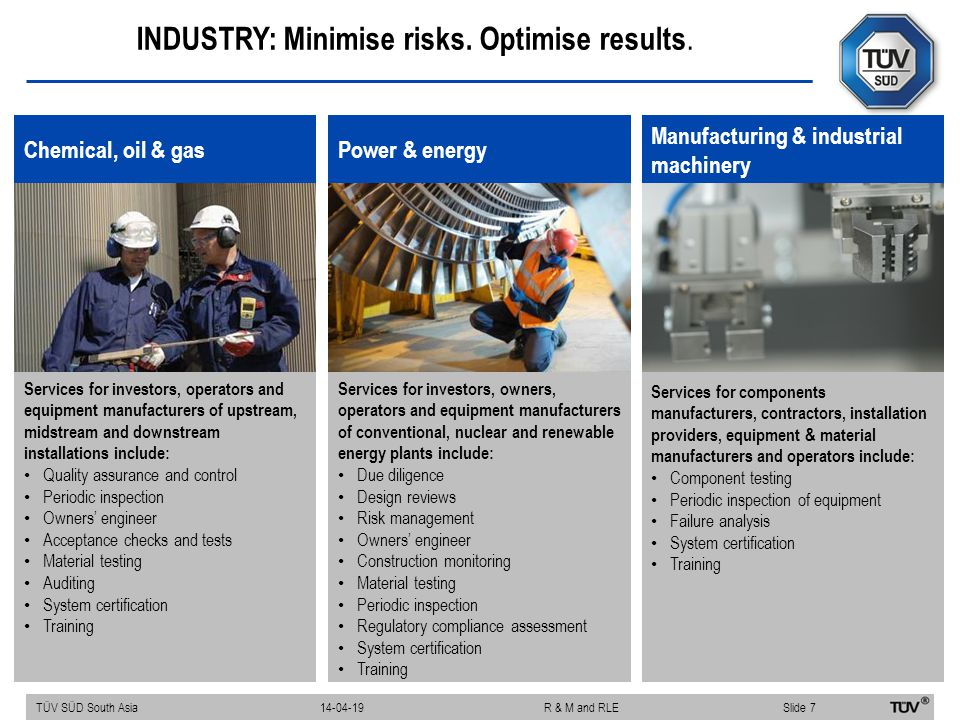 INDUSTRY: Minimise risks. Optimise results.