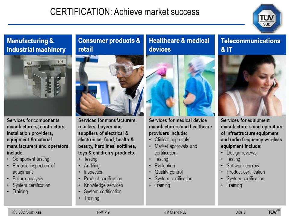 CERTIFICATION: Achieve market success