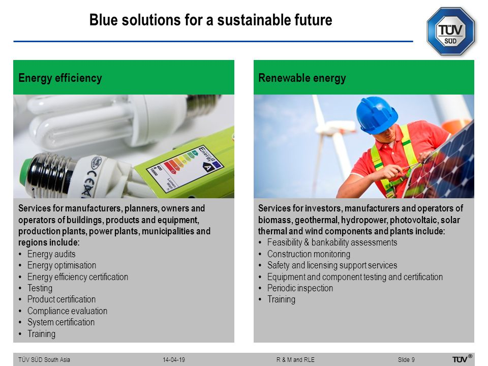 Blue solutions for a sustainable future