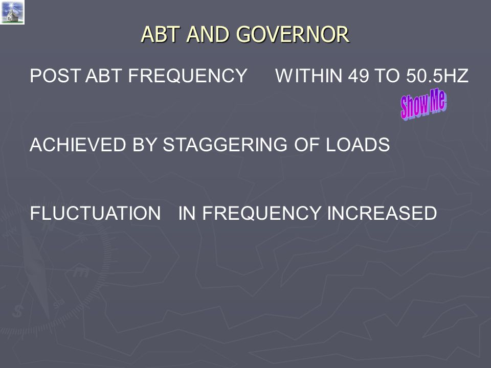 ABT AND GOVERNOR POST ABT FREQUENCY WITHIN 49 TO 50.5HZ