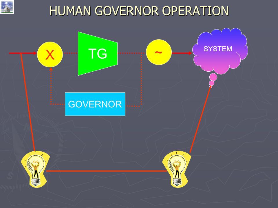 HUMAN GOVERNOR OPERATION