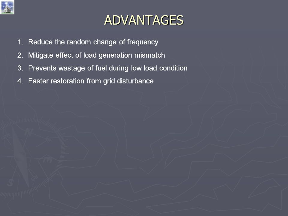 ADVANTAGES Reduce the random change of frequency