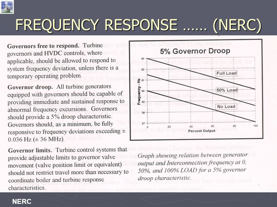 FREQUENCY RESPONSE …… (NERC)
