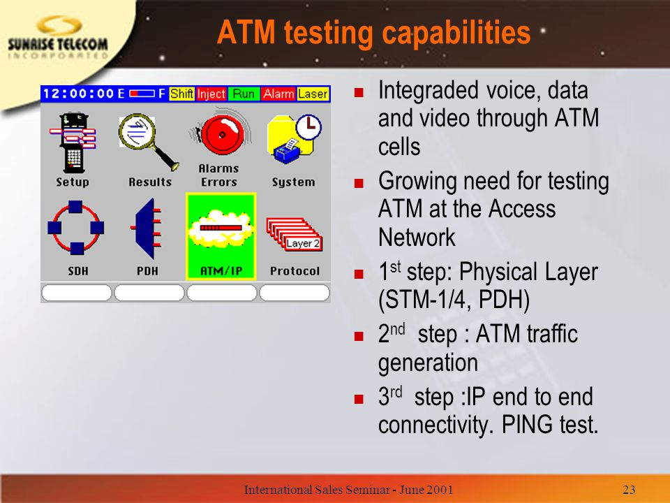 ATM testing capabilities