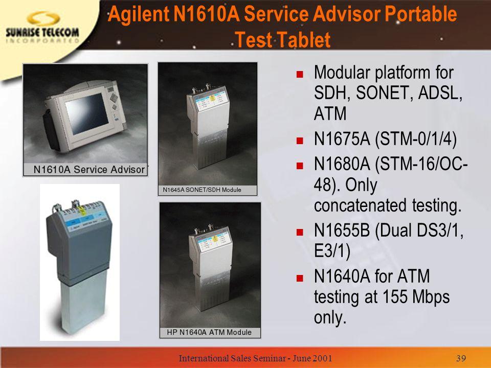 Agilent N1610A Service Advisor Portable Test Tablet